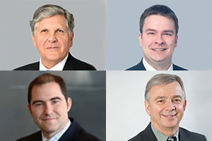 Mes Guy Tremblay, Marc-André Groulx, Jean-François Bélisle et Claude Tardif. Sources : Sites Web de BCF, de Bourque tétreault & Associés la ACRGTQ et de Rivest Shmidt FTQ Construction