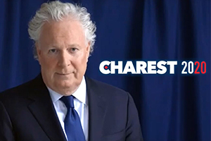 Jean Charest était prêt... Photos : Youtube