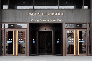 Palais de justice de Montréal. 