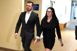Dominic Lacroix and his wife Sabrina Paradis-Royer.  Photo: Radio-Canada