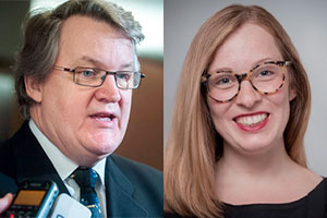 Mes Alain Arsenault et Virginie Dufresne-Lemire. Photos : Site web d'ARSENAULT DUFRESNE WEE AVOCATS