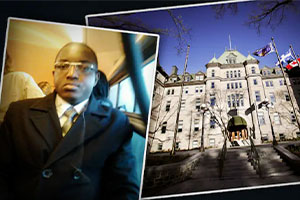 Quebec City commissioned a law firm at a cost of $ 232,500 to muzzle Léopold Camille Yodjeu Ntemde.  Photo: Radio-Canada