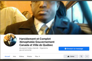 Léopold Camille Yodjeu Ntemde has created a Facebook page where he says he is persecuted by the authorities.  Photo: Radio-Canada