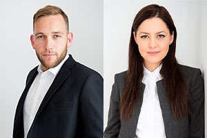 My Jean-Philippe Caron and Alessandra Esposito Chartrand.  Photos: Calex Legal website