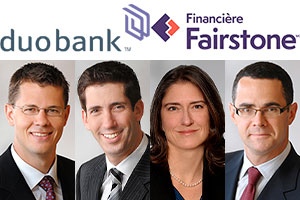 The team composed of Messrs. John Groenewegen, Richard Borins, Laura Fric and Patrick Marley acted as advisor.  Photos: LinkedIn and websites of Osler, Hoskin & Harcourt and Fairstone Financial Holdings Inc.