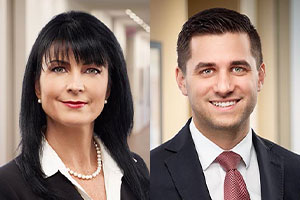 My Sylvie Rodrigue and Matthew Angelus.  Photos: Torys Law Firm website