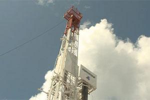 Oil drilling equipment in Gaspé.  Photo: Radio-Canada