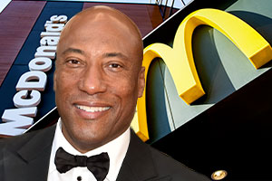 Byron Allen is suing McDonald's.  Photos: Picuki and Shutterstock