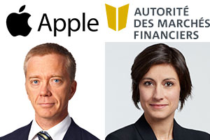 Apple is represented by Mes Éric Vallières and Joséane Chrétien, of the McMillan firm.  Sources: Archives, LinkedIn and Apple and AMF website.