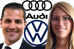 Me David Assor and Me Joanie Lévesque.  Sources: Lex Group, Audi and Volkswagen websites